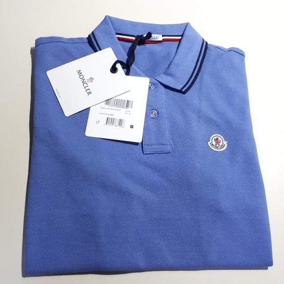 moncler blue polo shirt